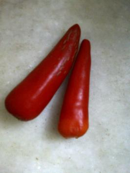 Ass Kicking Chillies for Couscous with Aubergine stew